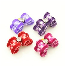 Wholesale Pet Product Hand Made Dog Grooming Pet Hair Bows Doggie Boutique Party Show Mixture Colors 50PCS/LOT