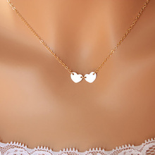 Fashion Gold Color Love Heart Necklace Delicate Women Minimalist Everyday Celebrity Necklaces Chain Bridesmaid Gift Jewelry