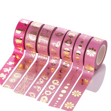 New Product Foil Gold Tape  Washi Design For Notebook Decoration design Q