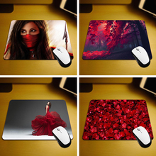 MaiYaCa Beautiful Red Best Game Custom Mousepads Rubber Pad 18*22cm and 25*29cm Mouse Mats