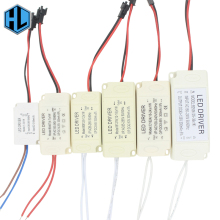 1-3W 4-7W 8-12W 12-18W 18-24W 25-36W Plastic Shell LED lamp driver transformer power supply adapter for led chip bulb spotlight