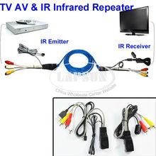 NU101 TV Video Video IR Extender AV Transmitter 1 Sender 1 Receiver IR Infrared Repeater Network Cable Connector Cat5(China)