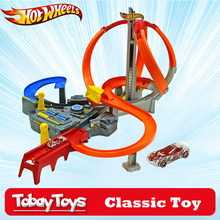 Hot Wheels Classic Toy Suit Miniatures Car Track Roundabout Electric Toys Square City Antique Cars Hotwheels CDL45