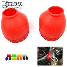 Universal PVC Motorcycle Foot Peg Cover motocross Footpeg Dust-proof Protector For Harley Yamaha Honda Off Road bike Dirt Bike
