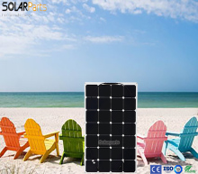 Solarpar 100W portable and flexible solar panel directly supplied by Chinese solar manufacturer camping RV boat for outdoor use