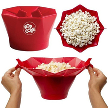 Useful Microwave Magic Popcorn Maker Popcorn Container Healthy Cooking Kitchen Accessories(China)