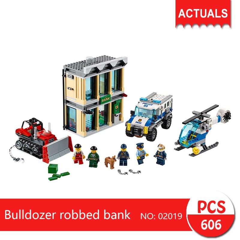 Lepin 02019 606Pcs City series Bulldozer robbed bank Model Building Blocks  Bricks Toys For Children Gift 60140<br>