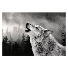 full drill diamond painting cross stitch diamond animals wolf pattern picture of rhinestones home decor gift h3(China)
