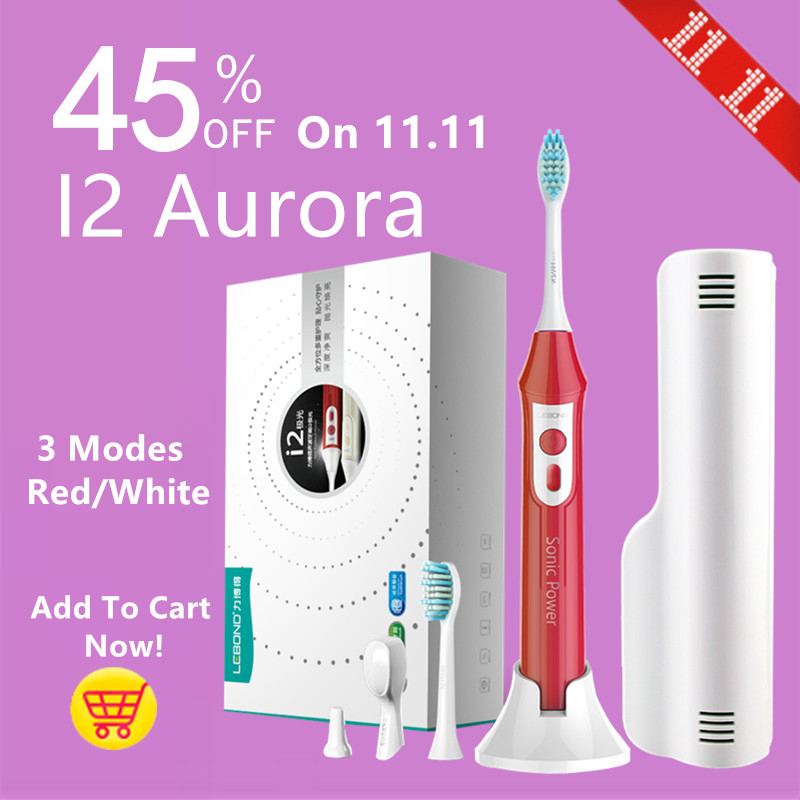 LEBOND Sonic Electric Toothbrush I2 Aurora Inductive Charging With 3 Effective Clean Modes For Adults <br>