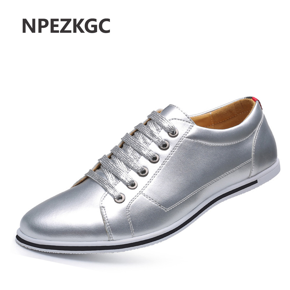 NPEZKGC 2017 New Spring/Autumn Men Casual Shoes High Quality Plus Size 38-48 Men Shoes Breathable Pu Leather Leather Shoes Men<br>