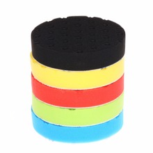 SPTA 5 inch (125mm ) Yellow/Red/Blue/Black/Green Buff Pad Polishing Pad kit For Car Polisher --Select Color -DIY Quality(China)