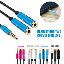 Phone headset Cable audio 3.5mm Jack Speaker and Headphone Splitter Audio AUX Double Sound  Laptop Smartphone for iPhone