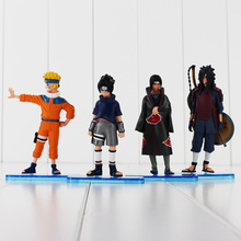 11-13cm 4pcs/lot Hot Anime Naruto Uchiha Sasuke Itachi Uchiha Madara Cool PVC Action Figure Model Toys Doll