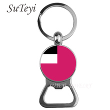 Georgia / Kazakhstan / South Korea Flag key chain charm flag picture Beer bottle opener alloy keyring of national patriot gift(China)