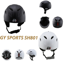 Free shipping CE approved white black water Ski Snowboard Skating helmet sport safety helmet for sale(China)