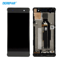 Buy AAA 100% Tested Black Sony Xperia XA F3111 LCD Display Digitizer Touch Screen Assembly Replacement Parts+Bezel Frame for $23.55 in AliExpress store