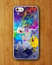 Customized Phone Case Jack and Fin Nebula Adventure Time Case for iphone 4 4s 5 5s 5c 6 6 plus Mobile Cover 2015
