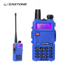 1 PCS Ham Radio Blue Powerful Walkie talkie Zastone V8 For Military 5km 128 Channel Radio Dual Band Long Range