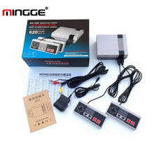 MINGGE 2017 Retro Classic TV Handheld Game Consoles Built-in 620 Childhood Classic Game Consoles with 2 Control Handles r44(China)