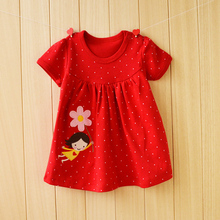 2017 Promotion Infant Dresses Fancy Summer Baby Tutu Dress Party Girl Clothing 100% Cotton Princess Gown Newborn Girls Clothes(China)