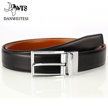 [DWTS] New genuine leather belt men reversible casual(China)