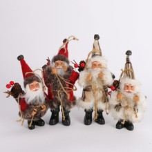 2017 Christmas Santa Claus Doll Toy Christmas Tree Ornaments Decoration Exquisite For Home Xmas Happy New Year Gift(China)