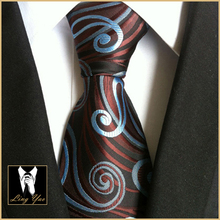 Fashion 8cm Design Tie Fancy Paisley Neckties High Quality Jacquard Woven Gravatas for Party(China)