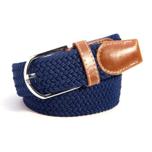 30 Colors Men Women's Canvas Plain Webbing Metal Buckle Woven Stretch Waist Belt Fashion Canvas Belt