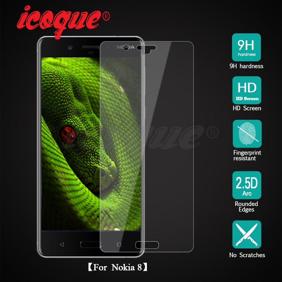 Icoque 9H 2.5D Glass for Nokia 8 Screen Protector Glass Display Film for Nokia8 Nokia 5 6 7 3 2 Nokia 8 Tempered Glass Protector (12)