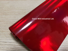 Best Quality Red Holographic Chrome Vinyl Wrap Film Hologram Stickers Air Release Vehicle Styling Laser Chrome 1.52*20M/Roll(China)