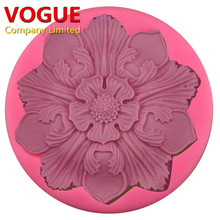 Lovely Retro Big Flower Soap Mold Craft Art Silicone Soap mold Craft Molds DIY Handmade Candle molds N3194(China)
