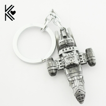 Movie Star Wars Firefly Serenity Replica HD Space Ship Metal KeyRings Keychains Purse Buckle Film Surrounding Key Chains Cheap(China)