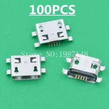 100Pcs Micro USB 5pin 0.8MM B Type Female Socket Connector Plain Mouth For Mobile Phone Charging Sell At A Loss USA