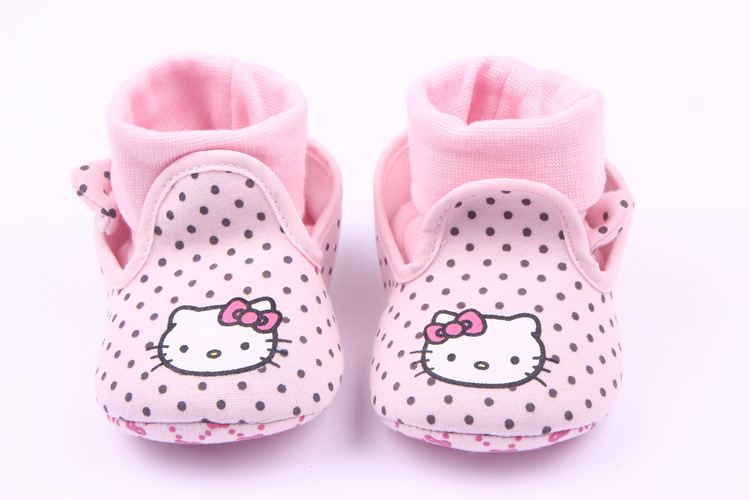 0-1Y baby girls shoes cute polka dot butterfly-knot baby shoes cartoon hello kitty infant first walkers toddler soft sole shoes<br><br>Aliexpress