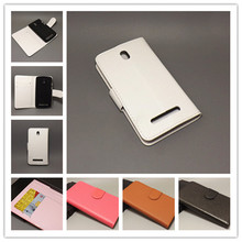 For HTC Desire 500 5088 506e 5060 509d Lichi Texture Leather Case Pouch Flip case with 2 Card Holder and pouch slot