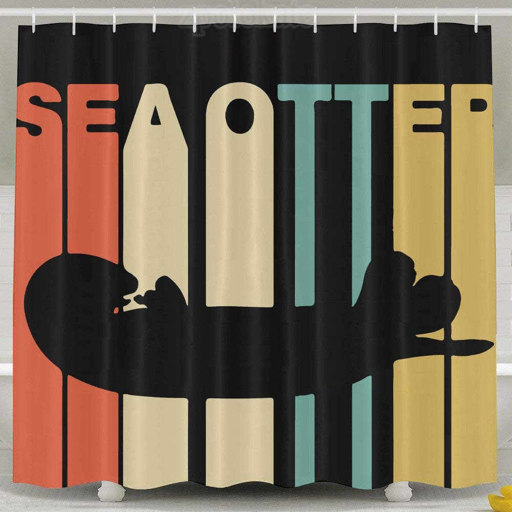 Detail Feedback Questions About Vintage Style Sea Otter Shower Curtain Fabric Set On Aliexpress