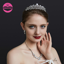 LUOSU Vintage Rhinestone Prom Queen Crown Crystal Tiaras For Women Bridal Jewelry Pageant Wedding Hair Accessories