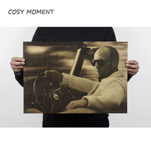 COSY MOMENT Jason Statham Movie Nostalgia Old Retro Kraft Poster Vintage Advertising Posters Painting Wall Sticker QT125(China)