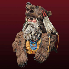 1/10 Scale Unpainted Resin Bust A Hunter Wearing a bear clothing   (Free Shipping)