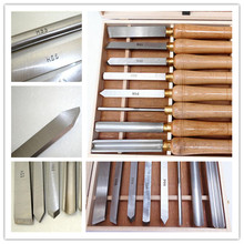 8PCS HSS Wooden Turning Chisel Tools SET with High Speed Steel Blade & Ashtree Handle in Wooden Box