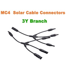 MC4 Solar Panel Adaptor Cable Connector Y Branch Connector 3 Y MC4 Solar Panel Wire Connectors(China)