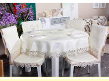 PanlongHome Lace Lace Tablecloth Europe Simple Tablecloth White Coffee Table Cloth