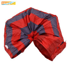 Pet Tunnel Cat Play Tunnel Red-Gray Foldable 2 Holes Cat Tunnel Play Crinkle Sound Cat Toy Bulk Cat Toys Rabbit Play Tunnel(China)