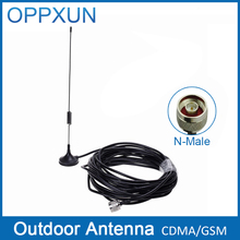 Antenna GSM 2G outdoor antenna 2G external sucker antenna CDMA850MHz 900MHz with N male connector with 10m cable for mobile