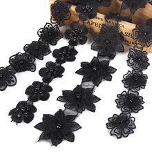 David accessories black Flower Lace Trim Embroidery Sewing Fabric Ribbon DIY Garment Accessories,1Yc2475