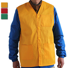 Hot Sales !!Vest Men Women Waistcoat Advertising Volunteers Supermarket Cashier Work Vests Sleeveless Jacket Size M-3XL