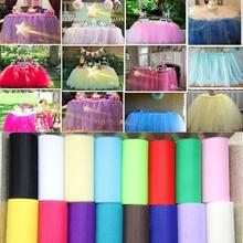 25Yards/Lot 6inch Tulle Rolls Organza Gauze Element Wedding Decoration Tissue Tulle Paper Roll Spool Craft Party Decor 7ZSH759