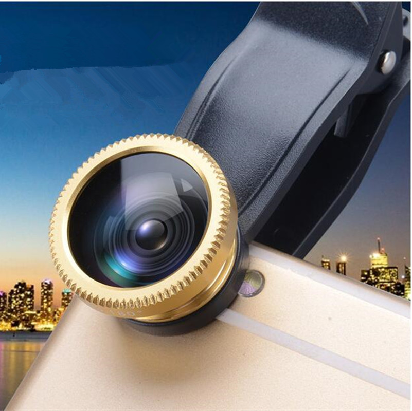 Universal 3 in 1 Clip-on Fish Eye Macro Wide Angle Mobile Phone Lenses Camera Kit For iPhone 4 5 6 Samsung S4 S5 LG Xiaomi Meizu(China (Mainland))
