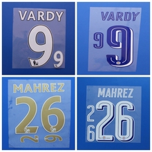 2016 2017 Leicester city Home away champions league MAHREZ VARDY MORGAN custom football number font print,Soccer patch badge
