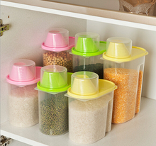 S/L Food Grain Plastic Candy storage Box Containers Kitchen Accessories Tool Random color